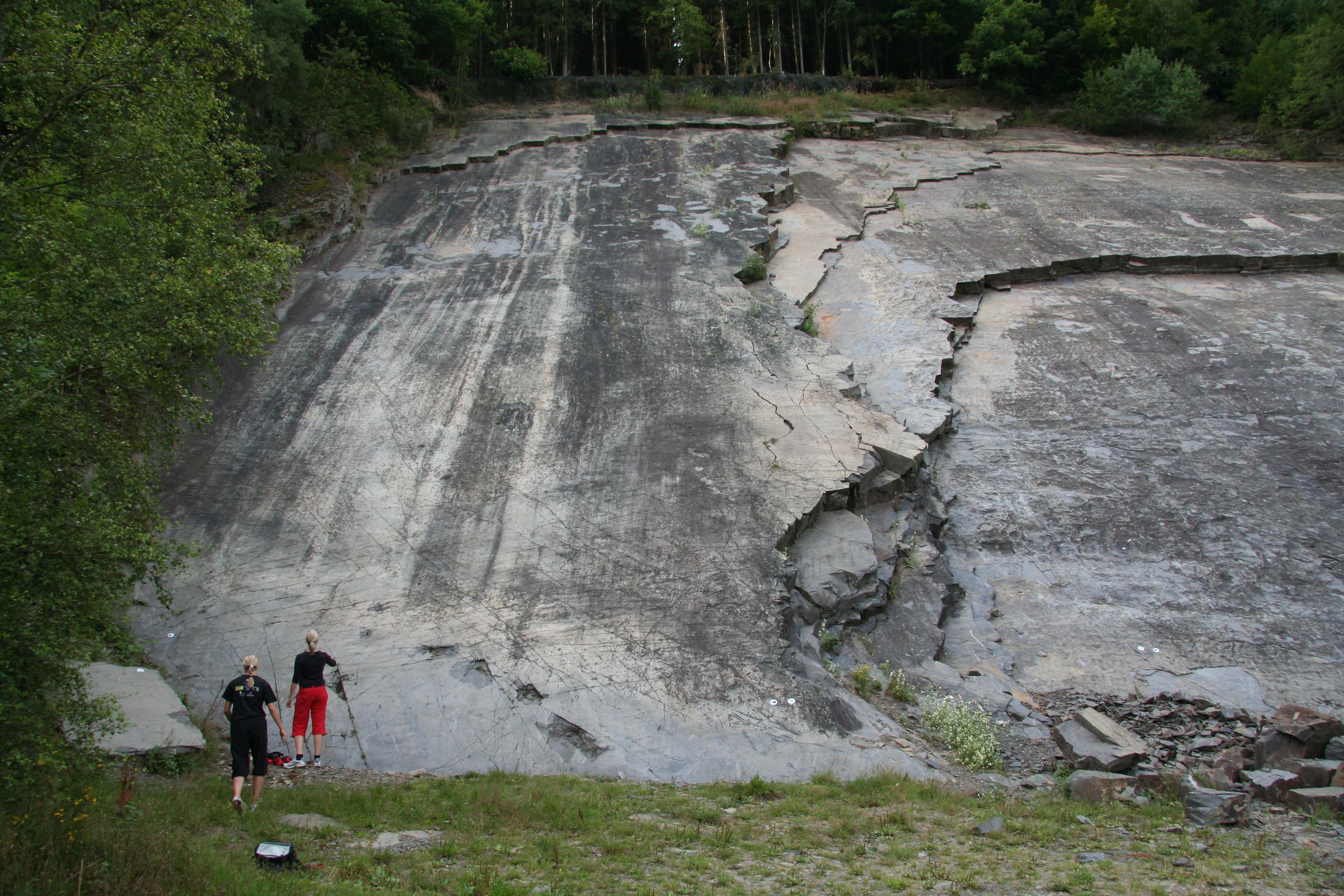 Die Kletterarena im Steinbruch Liesen